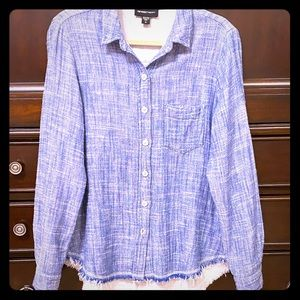 Fifteen Twenty Medium unique lined blouse shirt